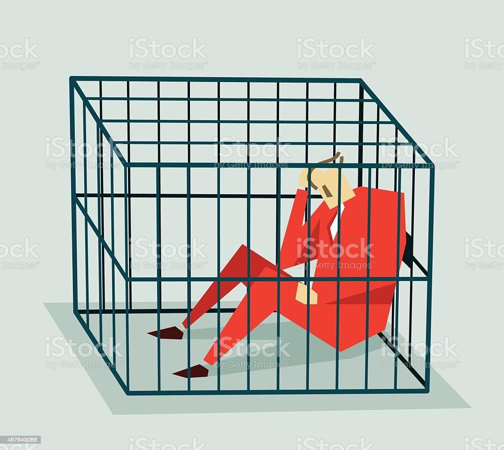 Jailed, Cage-Illustration vector art illustration