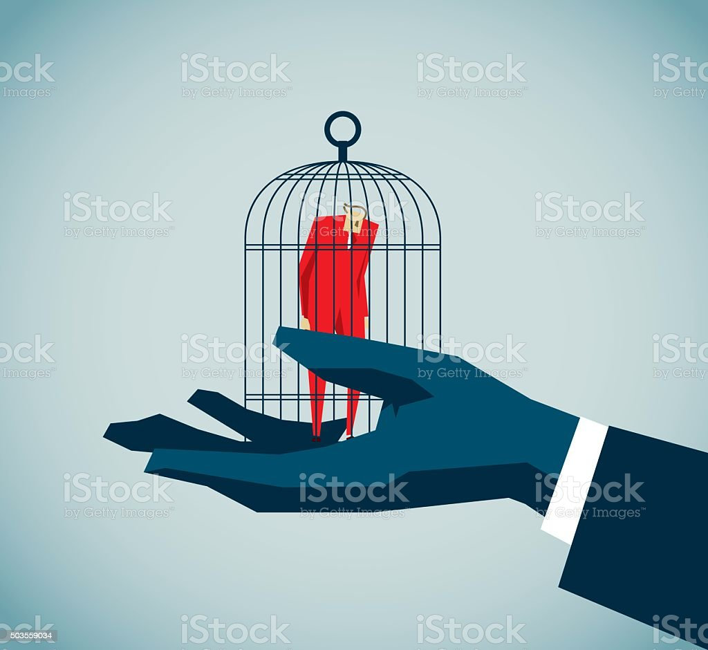 Jailed vector art illustration