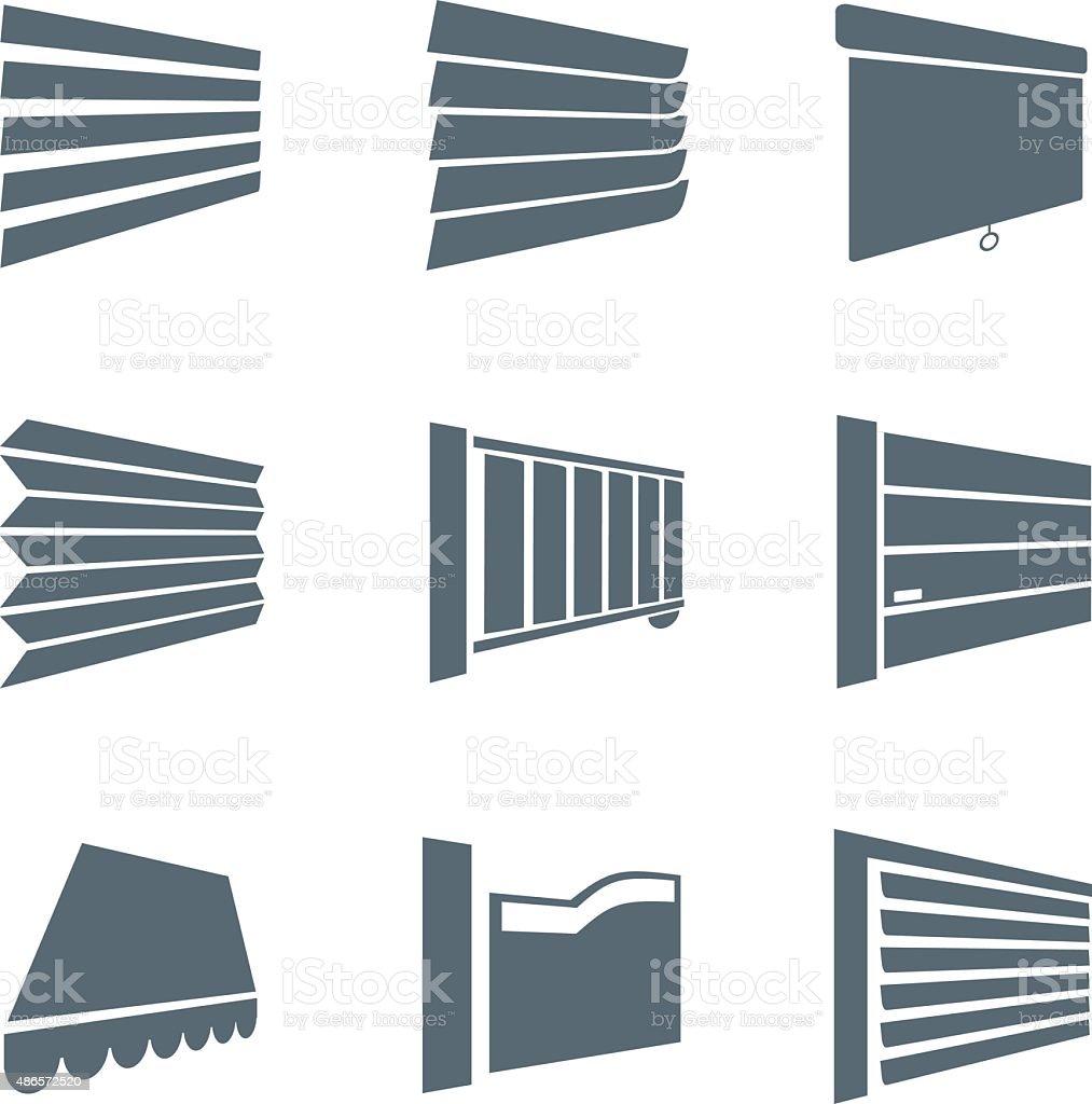 Jalousie icons - illustration vector art illustration