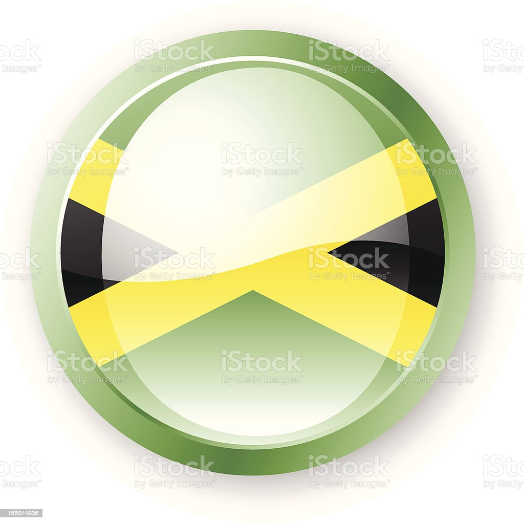 Jamaica Flag Icon royalty-free stock vector art