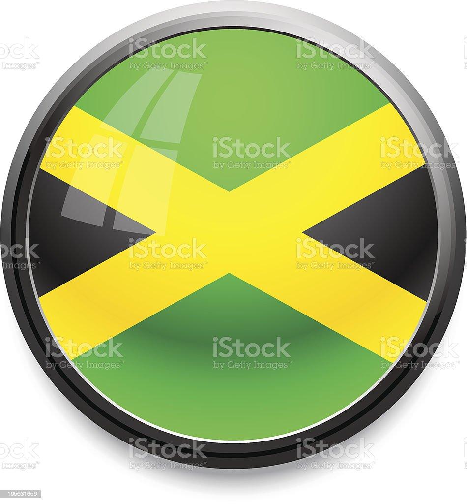 Jamaica - flag icon royalty-free stock vector art