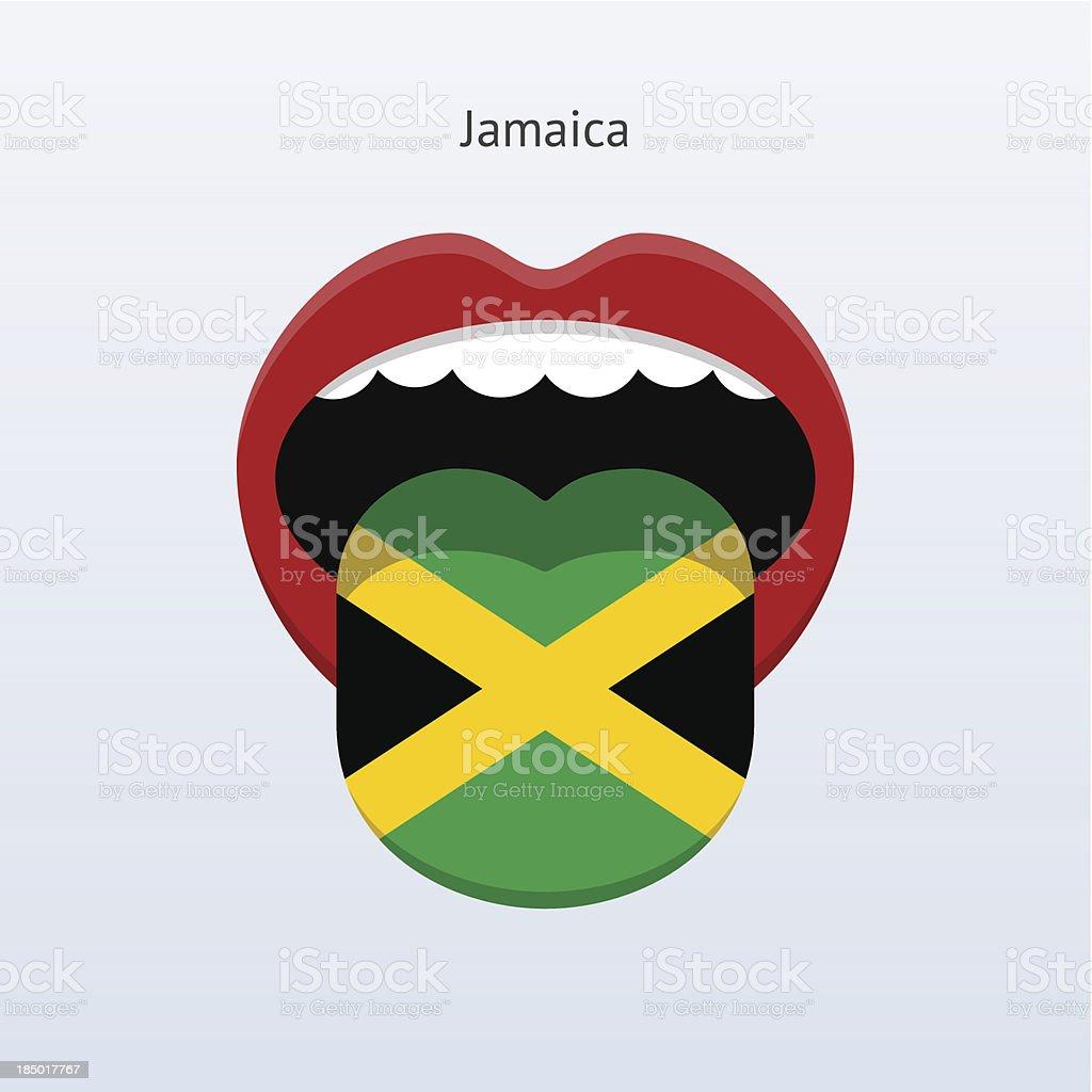 Jamaica language. Abstract human tongue. royalty-free stock vector art