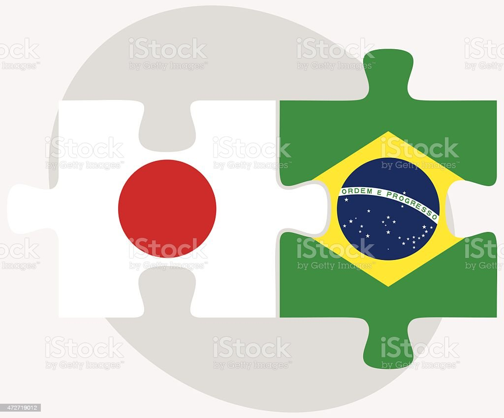japan and brazil flags in puzzle stock vector art 472719012 istock