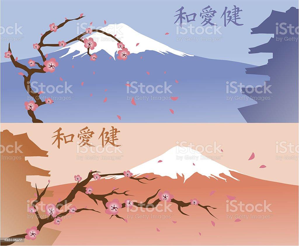 Fond du Japon stock vecteur libres de droits libre de droits