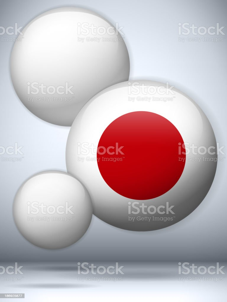 Japan Country Set of Bubbles royalty-free stock vector art