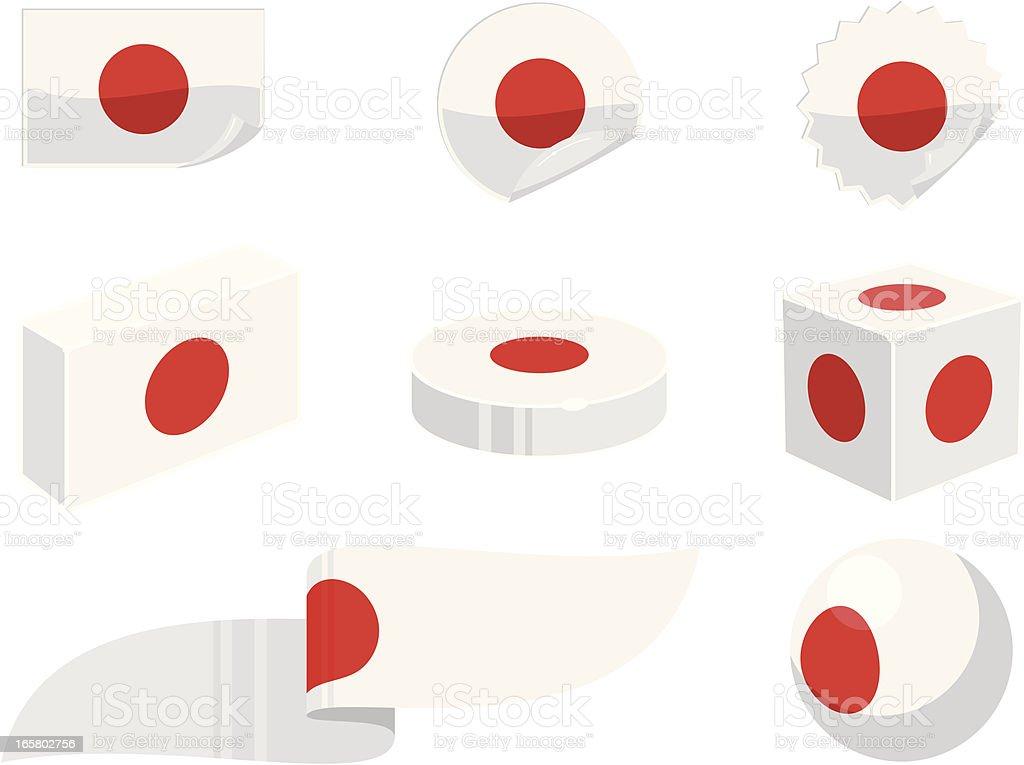 Japan Design Elements royalty-free stock vector art