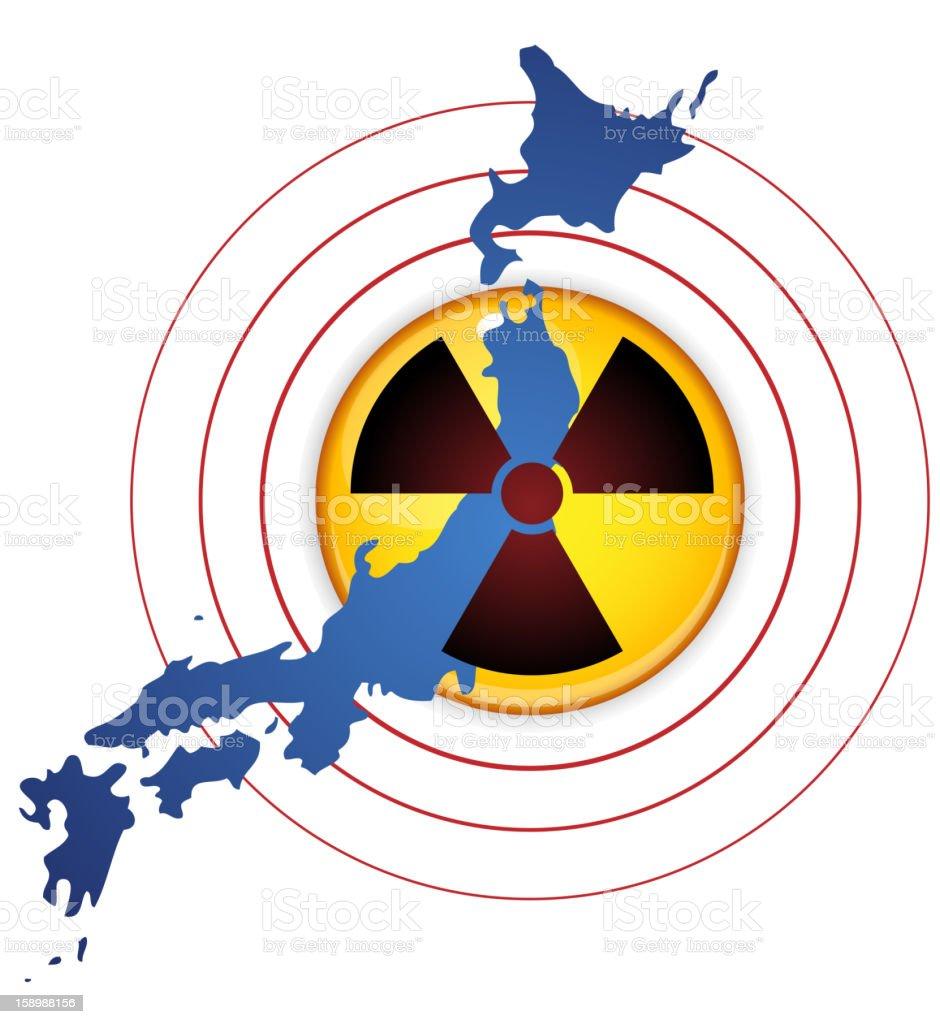 Japan Earthquake, Tsunami and Nuclear Disaster royalty-free stock vector art