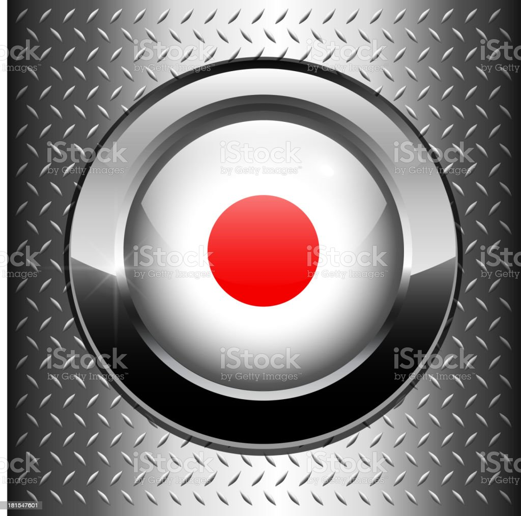 Japan flag button royalty-free stock vector art