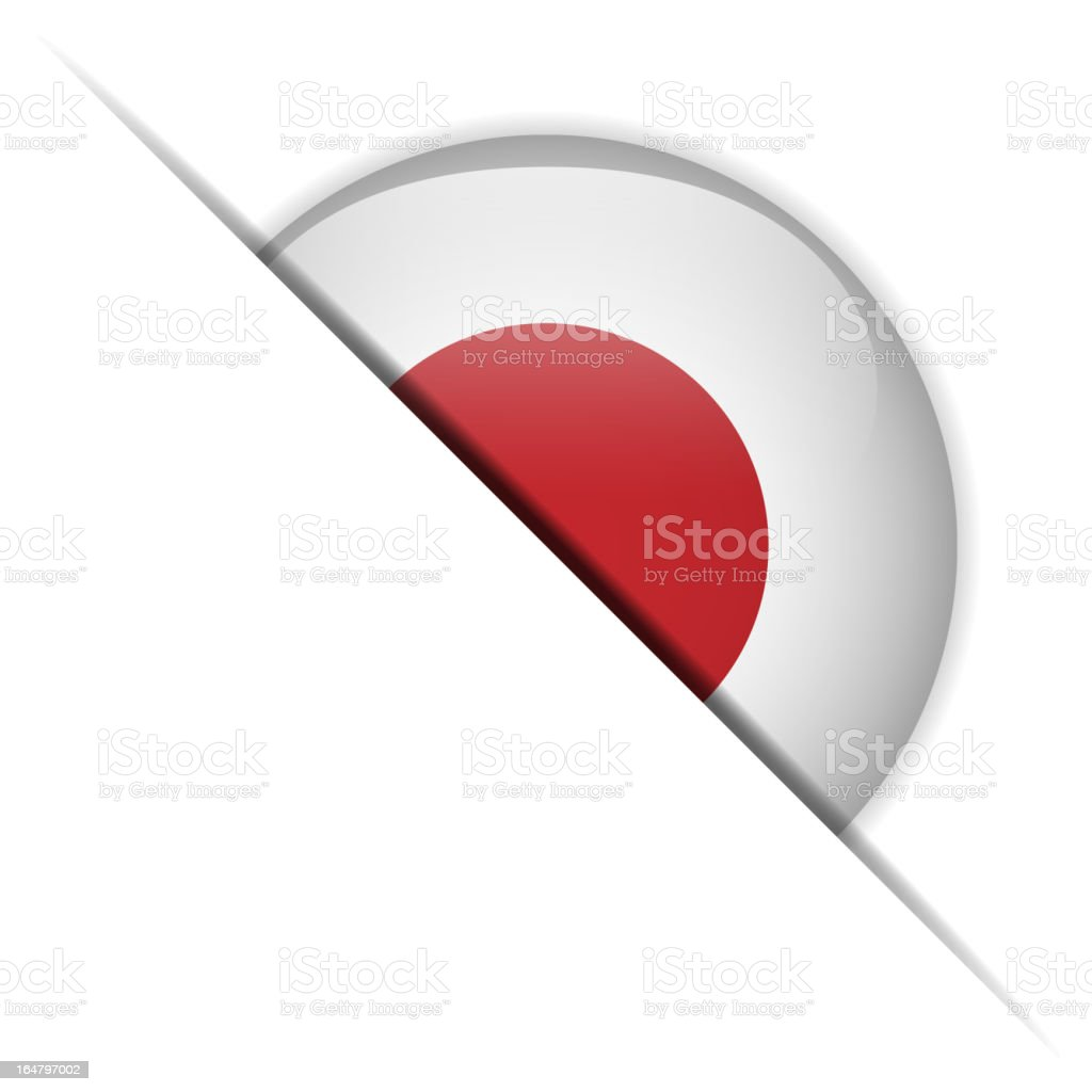 Japan Flag Glossy Button Hidden royalty-free stock vector art
