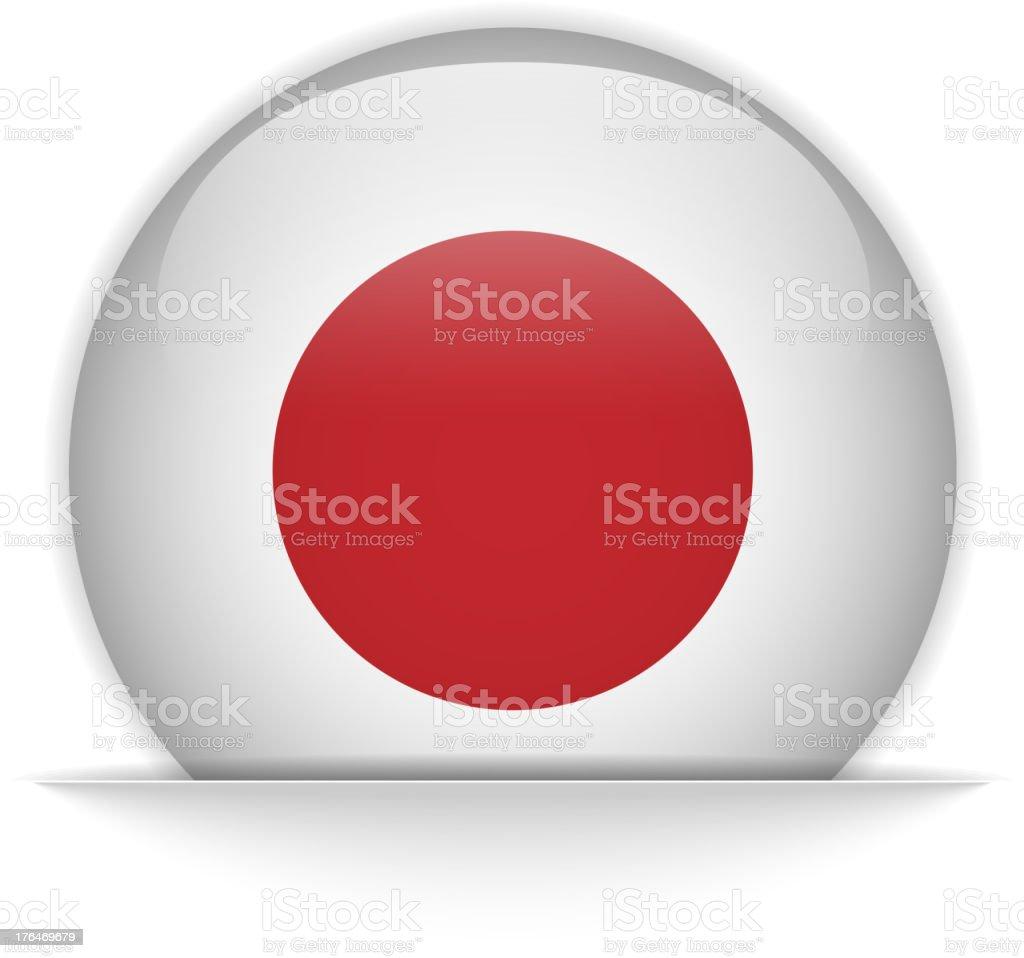 Japan Flag Glossy Button Hidden royalty-free stock vector art