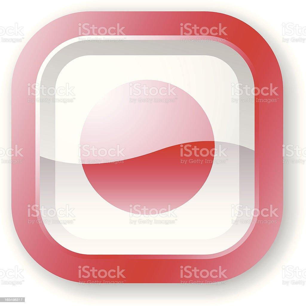 Japan Flag Icon royalty-free stock vector art