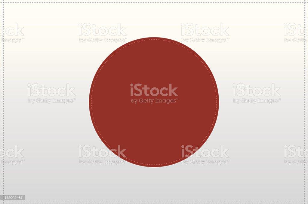 Japan Flag (Vector) royalty-free stock vector art