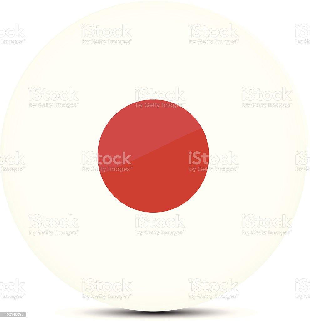 Japan flag royalty-free stock vector art