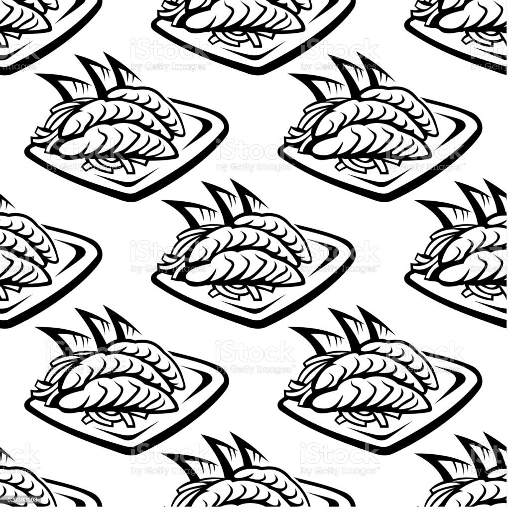 Japan food seamless pattern vector art illustration