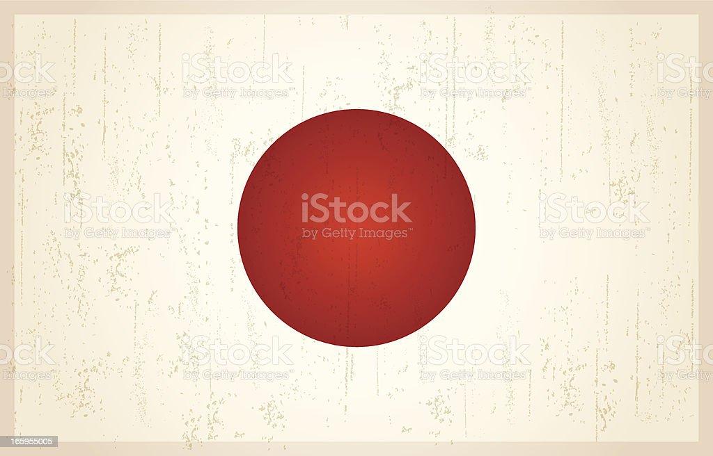 Japan grunge vintage flag royalty-free stock vector art