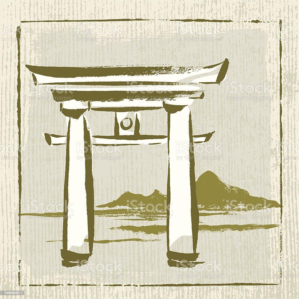 Japan Landmark royalty-free stock vector art