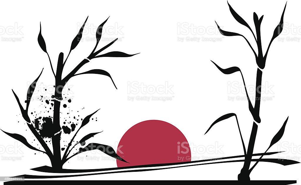 Japan landscape royalty-free stock vector art