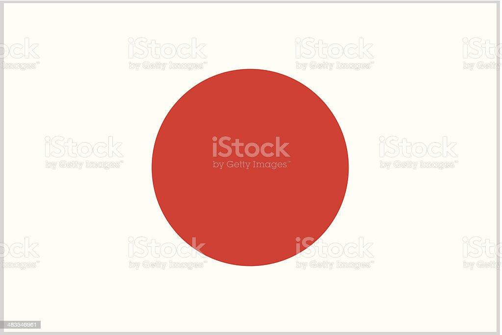 japan or japanese flag vector art illustration
