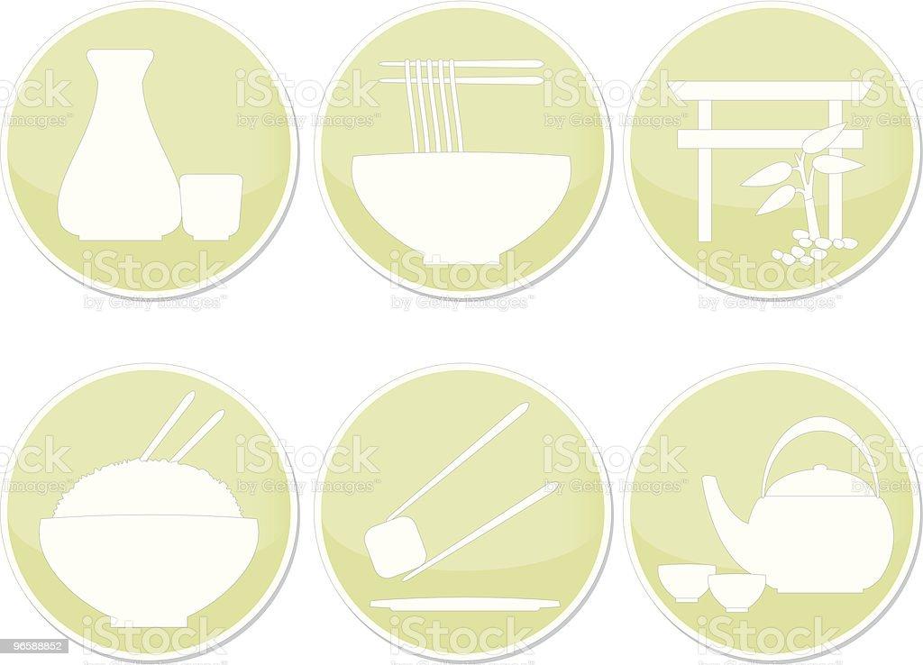 Japan Restaurant Icons royalty-free stock vector art