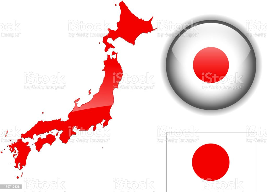 Japan set vector art illustration