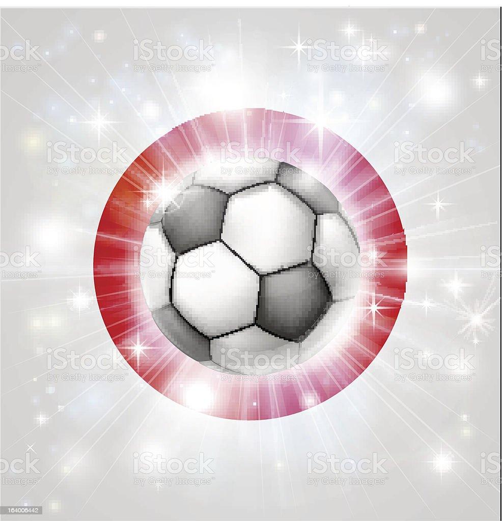 Japan soccer flag royalty-free stock vector art
