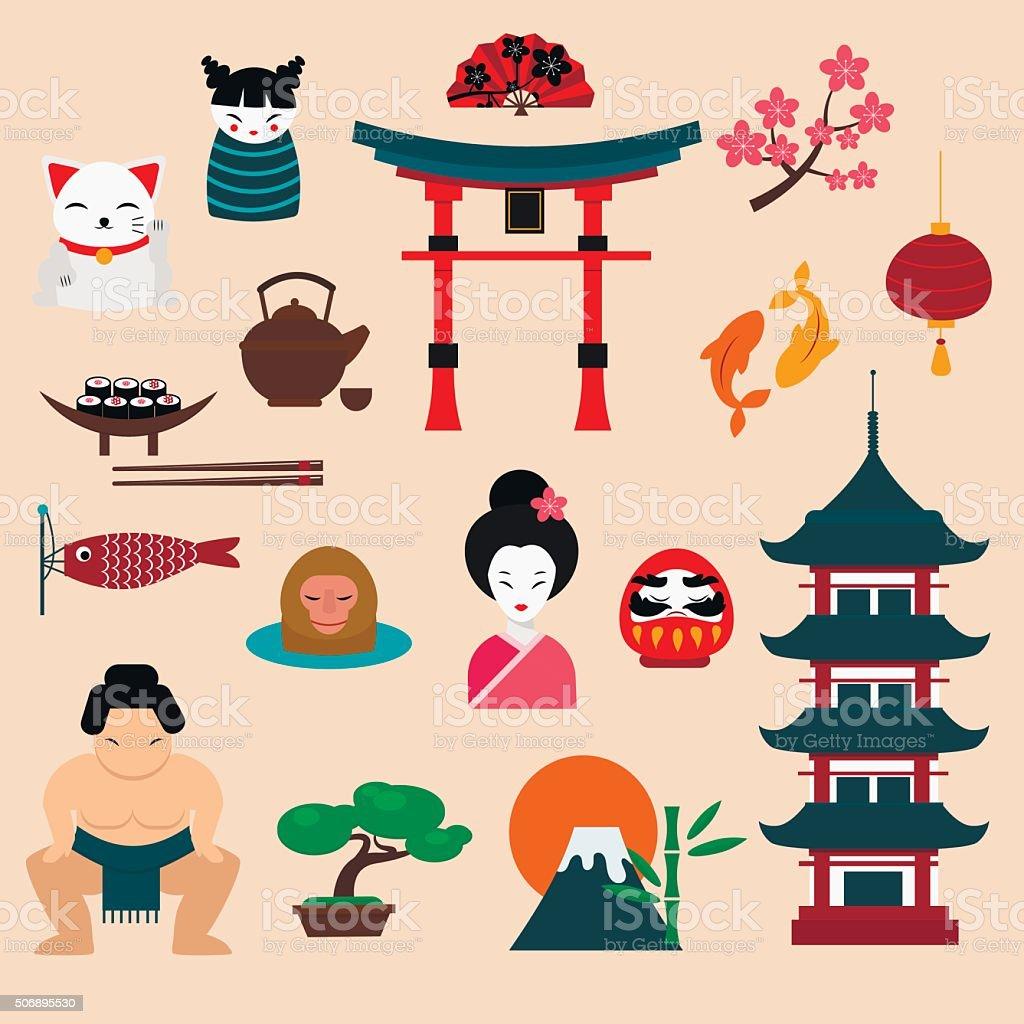 Japan travel vector illustration vector art illustration