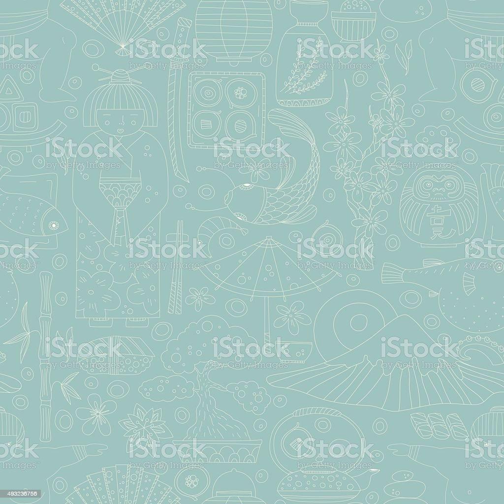 Japanese Background vector art illustration