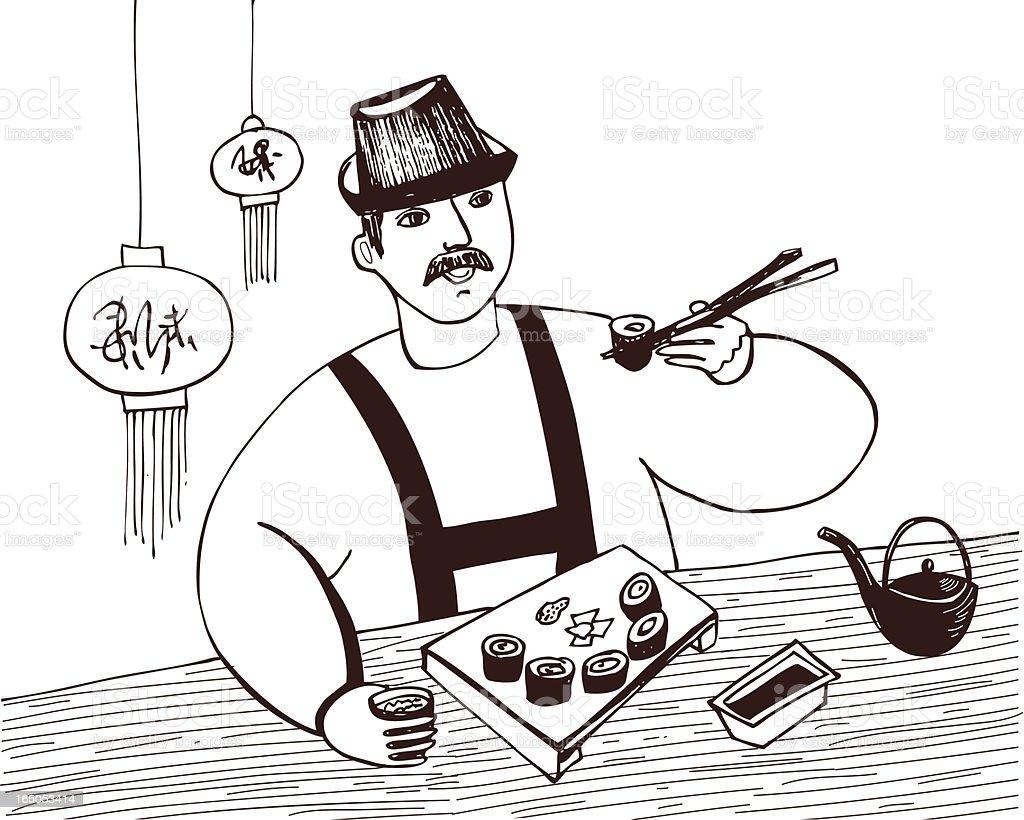 японская кухня/Japanese cuisine royalty-free stock vector art