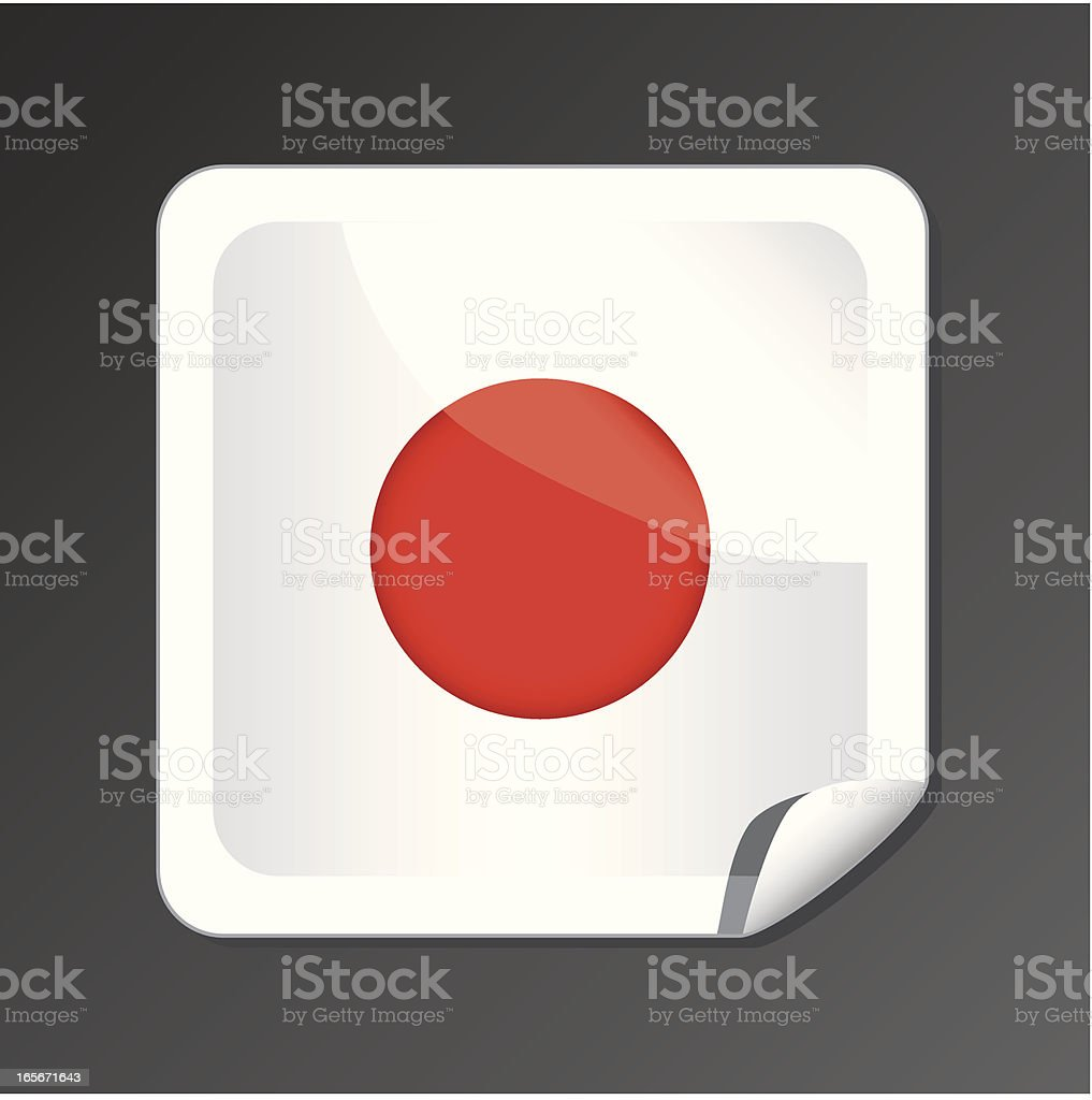 Japanese flag button royalty-free stock vector art
