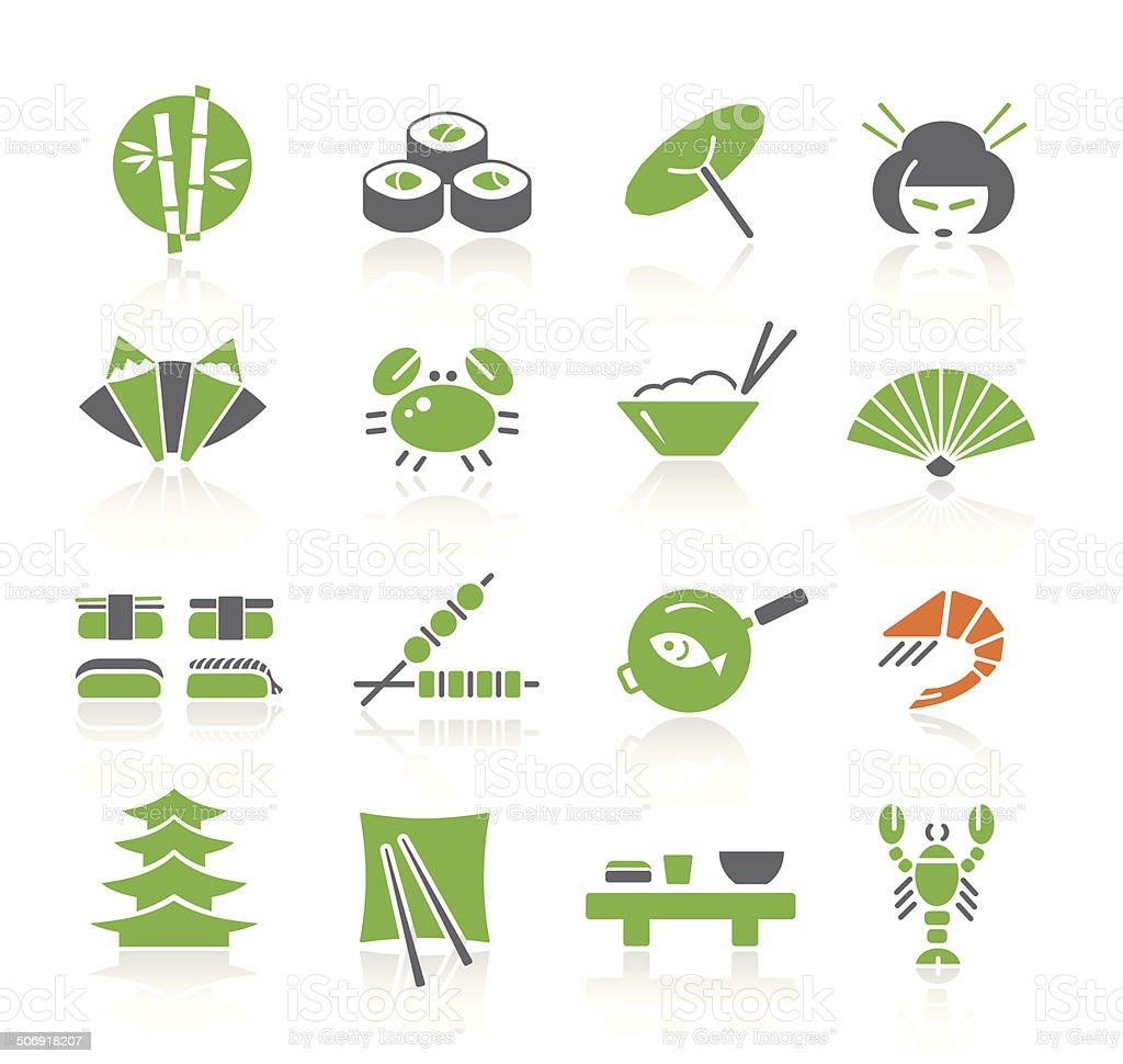 Japanese Food & Culture | Spring Series vector art illustration