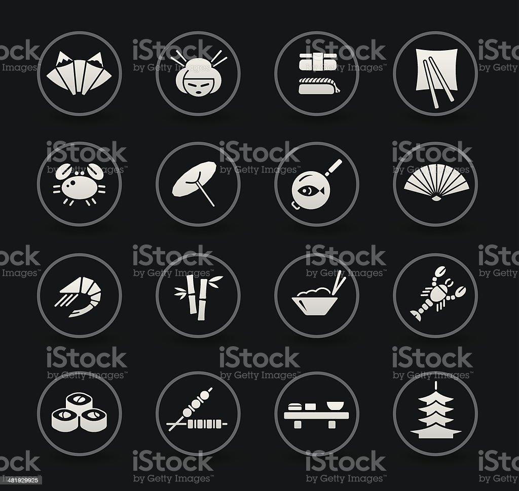 Japanese Food & Restaurant | Black royalty-free stock vector art
