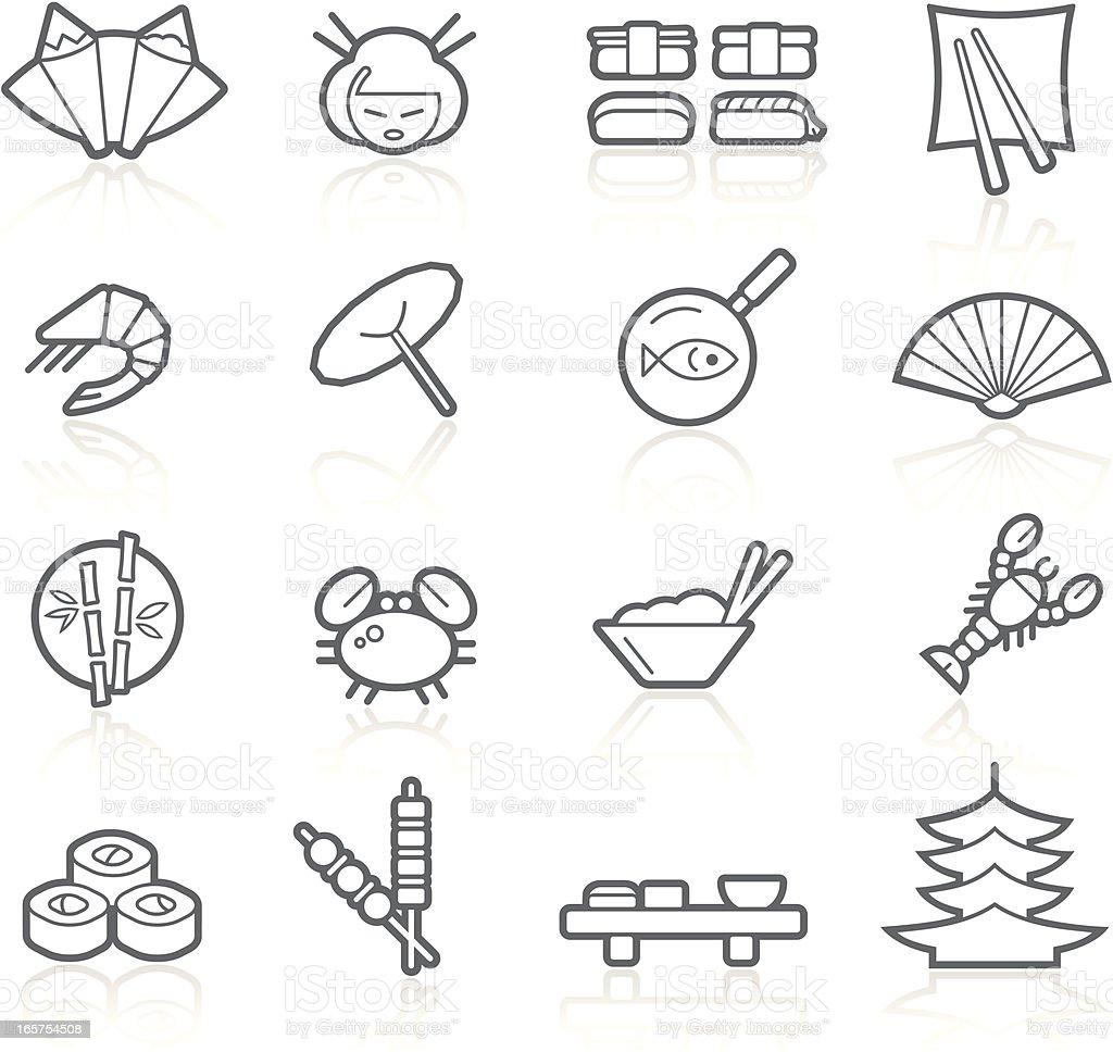 Japanese Food & Restaurant | Lineal vector art illustration