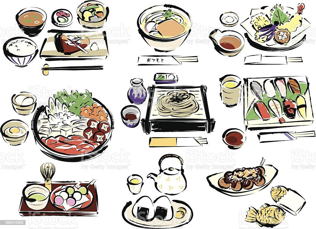 Japanese food royalty-free stock vector art