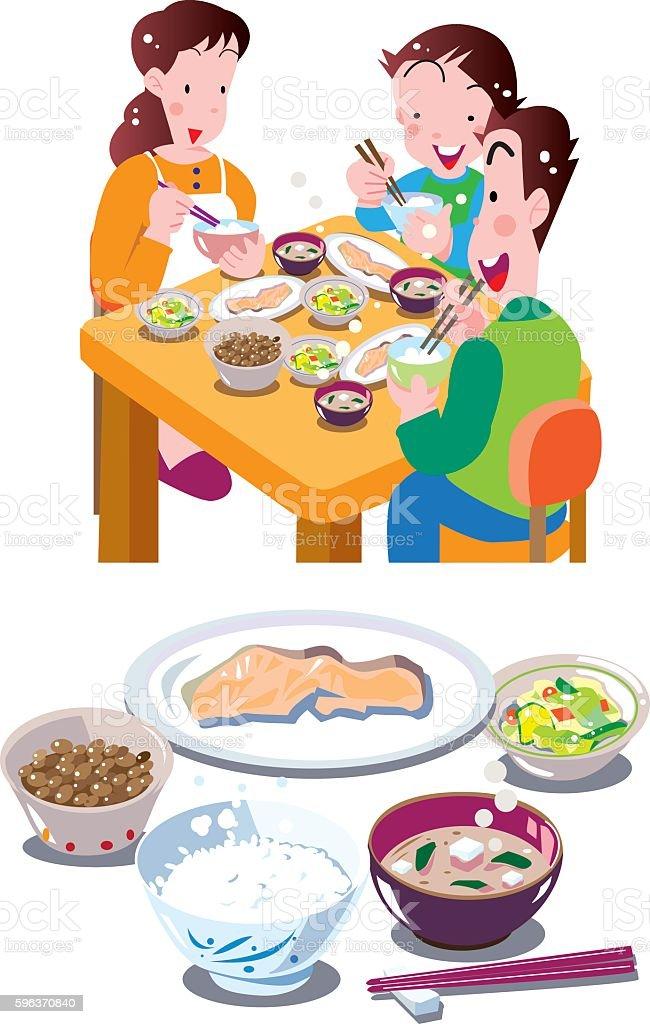 Japanese food vector art illustration