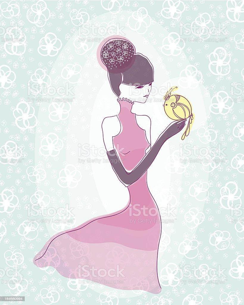 Japanese girl royalty-free stock vector art