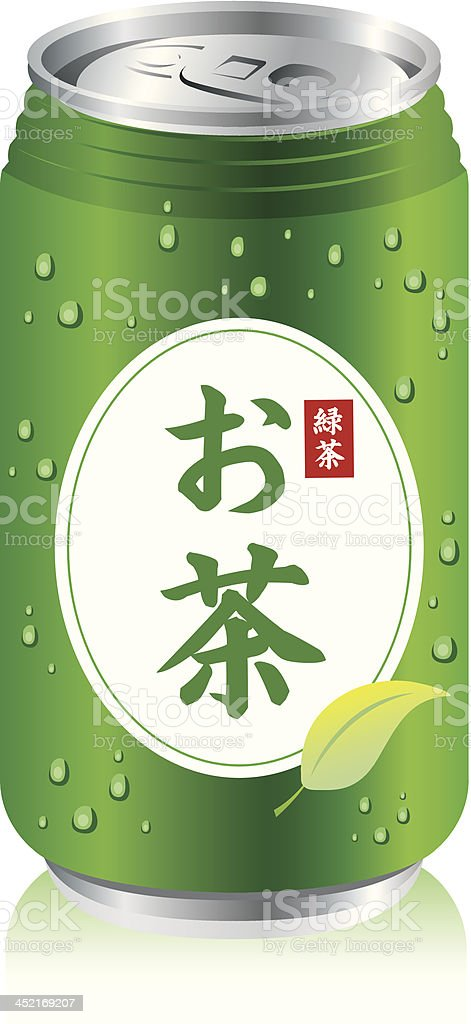 japanese green tea cans Vector royalty-free stock vector art