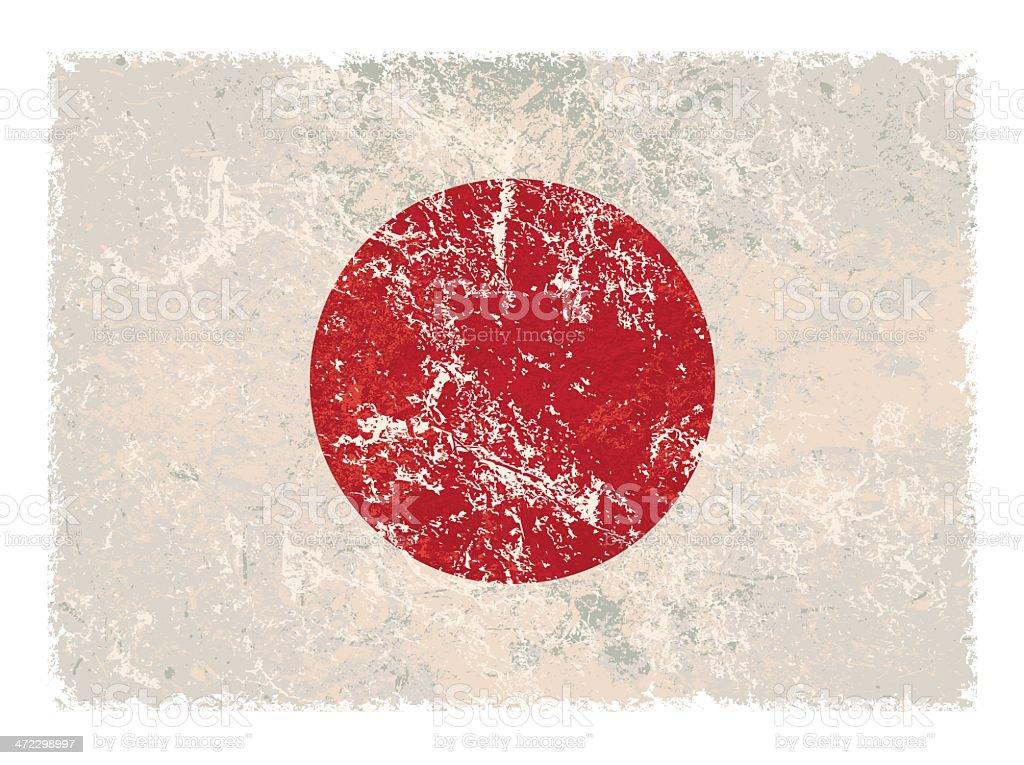 Japanese grunge flag royalty-free stock vector art