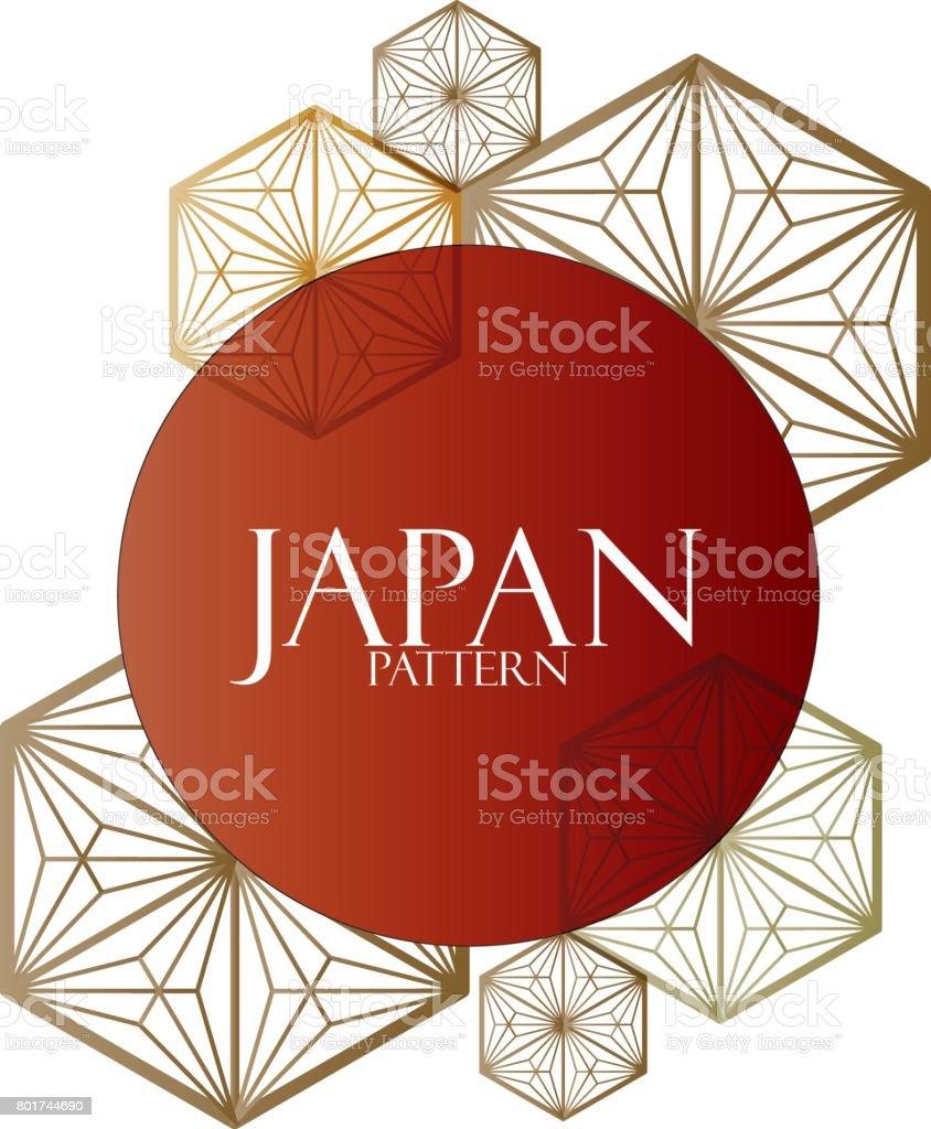 Japanese pattern cover book, poster, card, design element vector art illustration