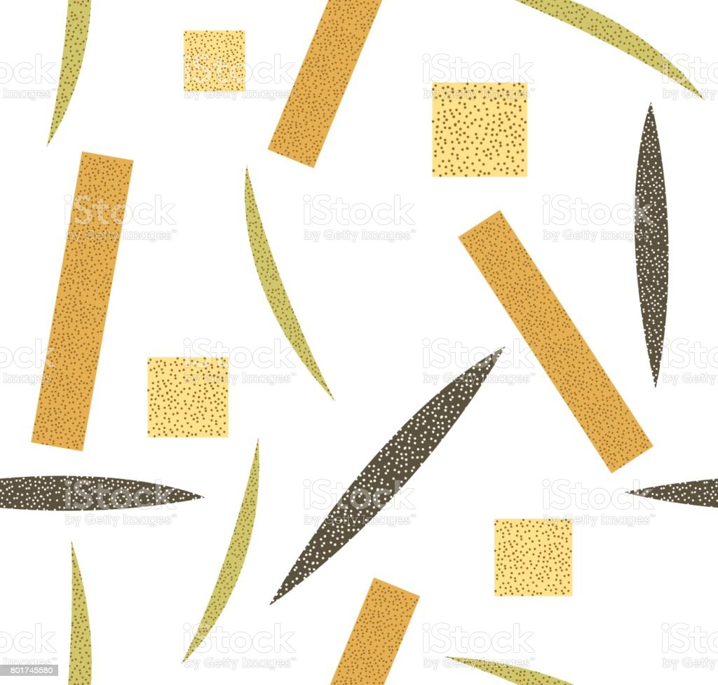 Japanese pattern seamless. Gold brown green dots vector background vector art illustration
