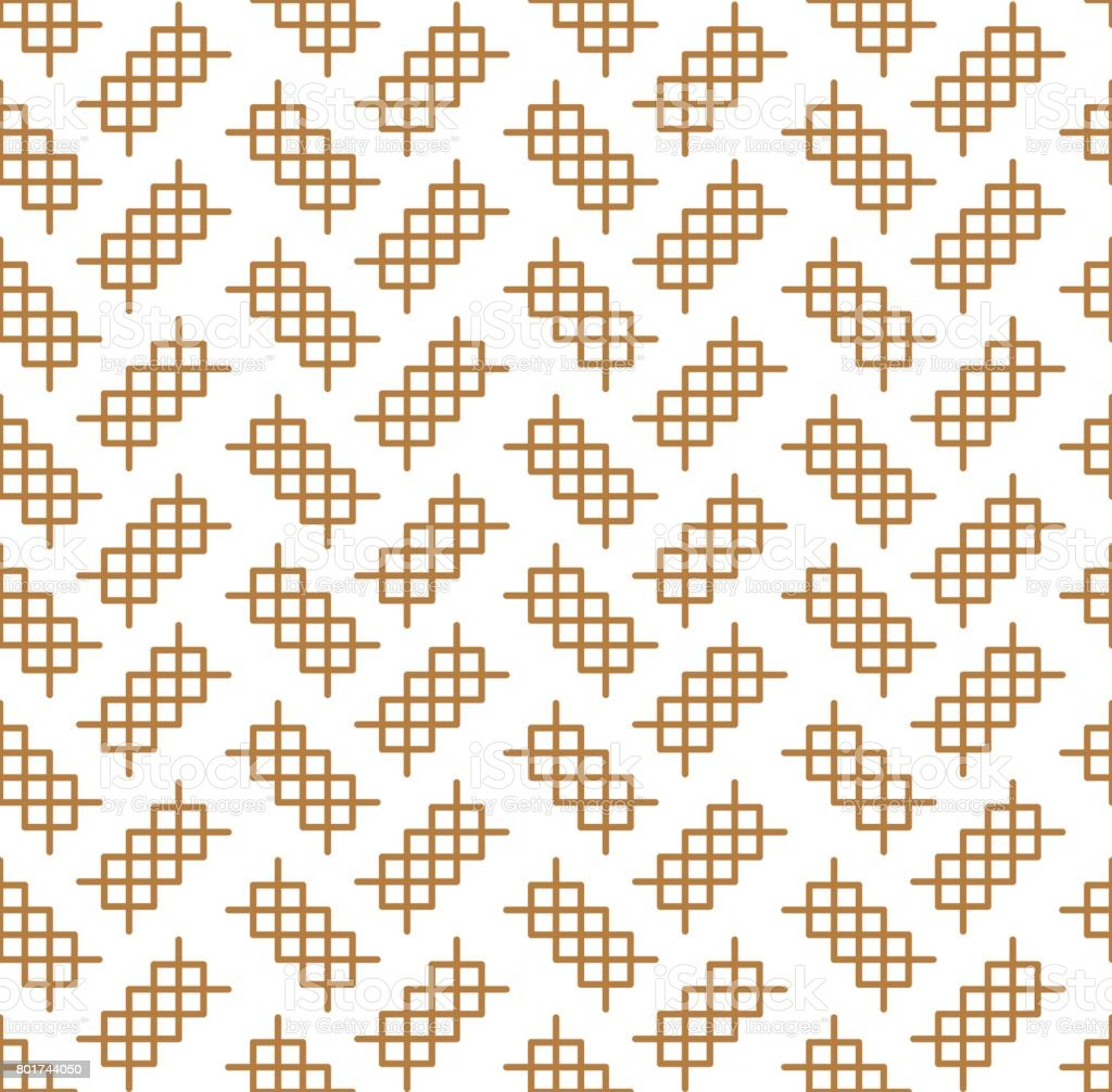 Japanese pattern seamless. Gold stitch vector  background vector art illustration