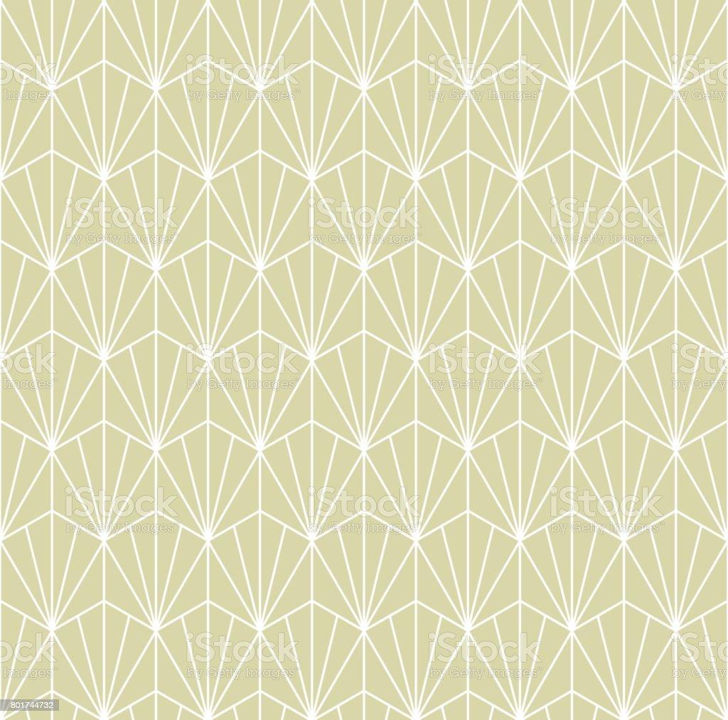 Japanese pattern seamless. Green vector background vector art illustration