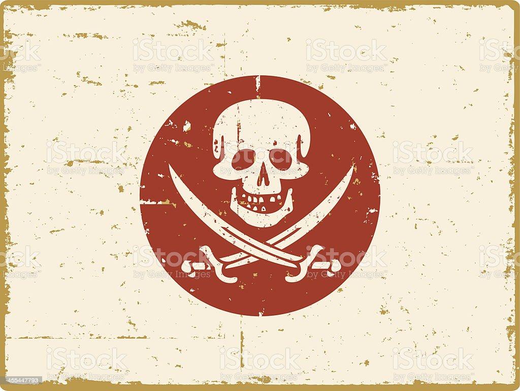 Japanese Pirate Flag royalty-free stock vector art