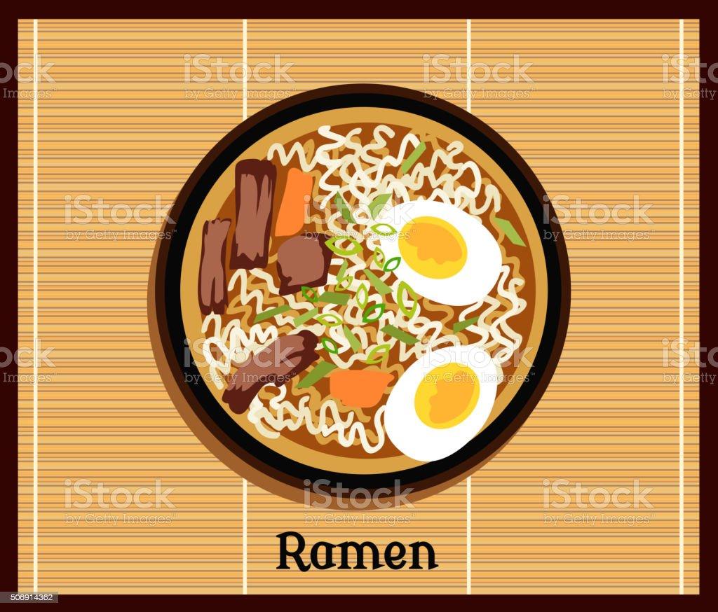 Japanese Ramen Concept vector art illustration