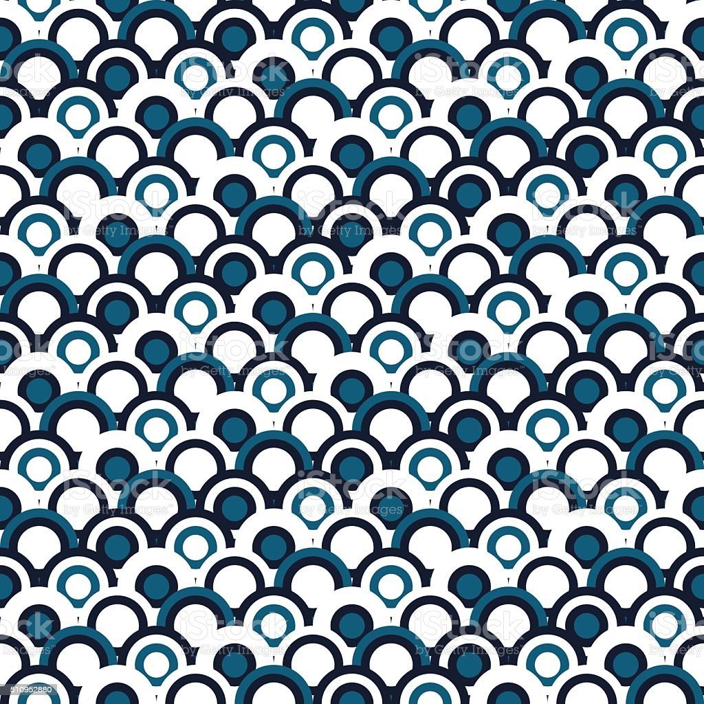 Japanese seamles pattern. Traditional background without any seams.Vector sea waves vector art illustration