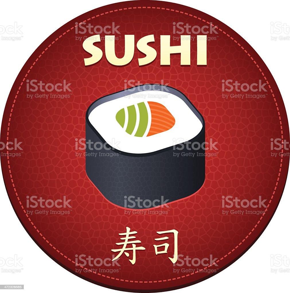 Japanese sushi red symbol royalty-free stock vector art