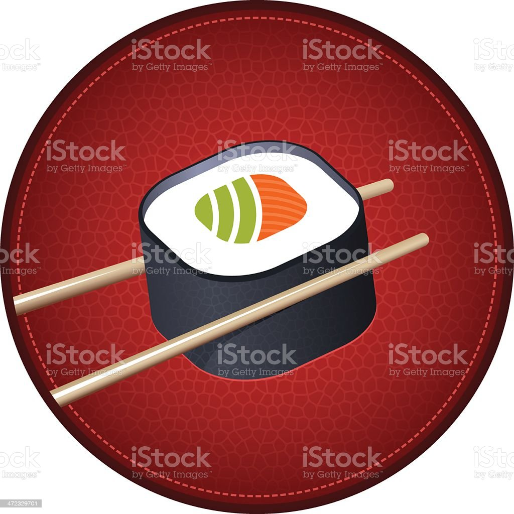 Japanese sushi red symbol royalty-free stock vector art