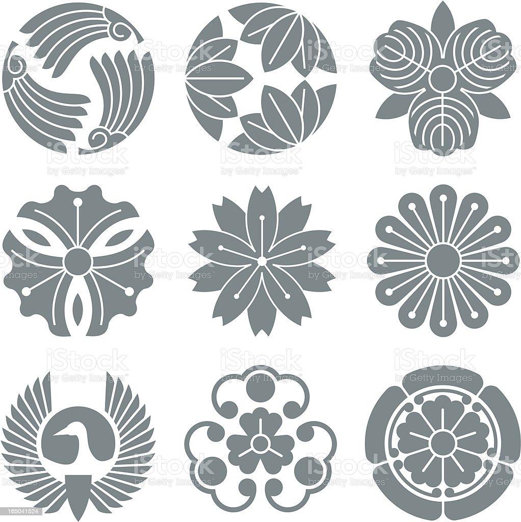 Japanese symbols royalty-free stock vector art
