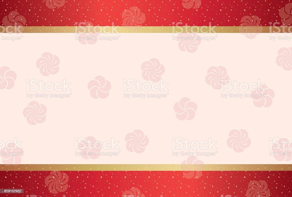 Japanese traditional pattern background vector art illustration