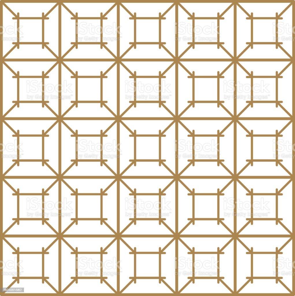 Japanese vector background. Gold pattern vector vector art illustration