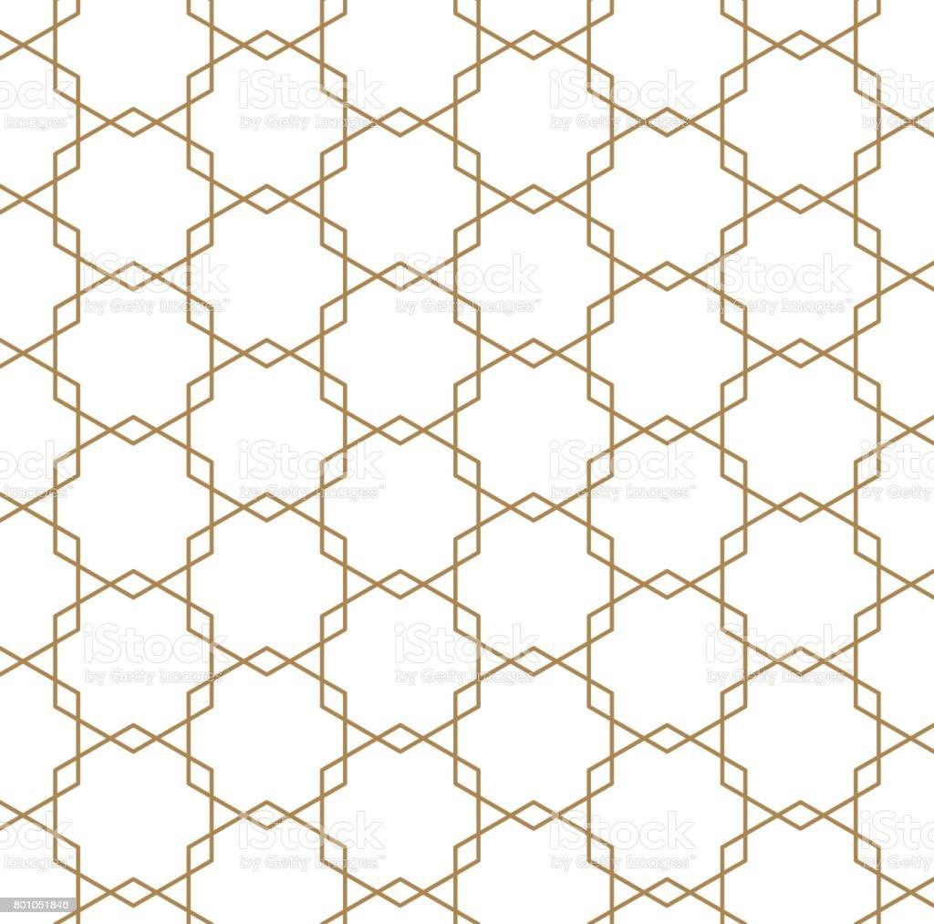 Japanese vector background. Gold pattern vector. vector art illustration